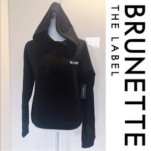 NWT Brunette The Label Black Jogger Hoodie